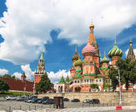 Saint Basil's Cathedral in the Moscow Red Square