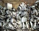 Cathedral of Christ the Saviour. Haut-relief. Welcome to David Having Overcome Goliath.